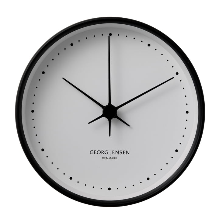 Henning Koppel wall clock ø22cm - black / white