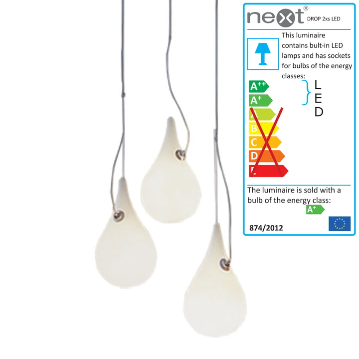 Drop_2xs LED pendant lamp set of 3 by Next Home