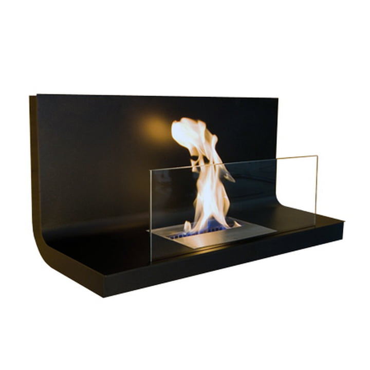 Wall Flame I - black steel