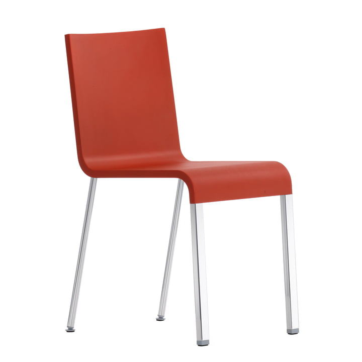 .03 Chair by Vitra in silver/ signal red