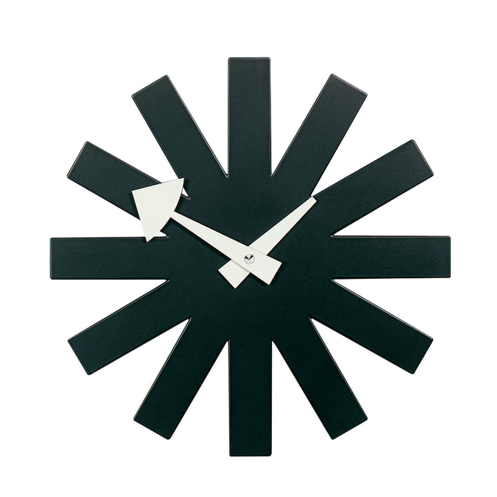Asterisk Clock by Vitra in black