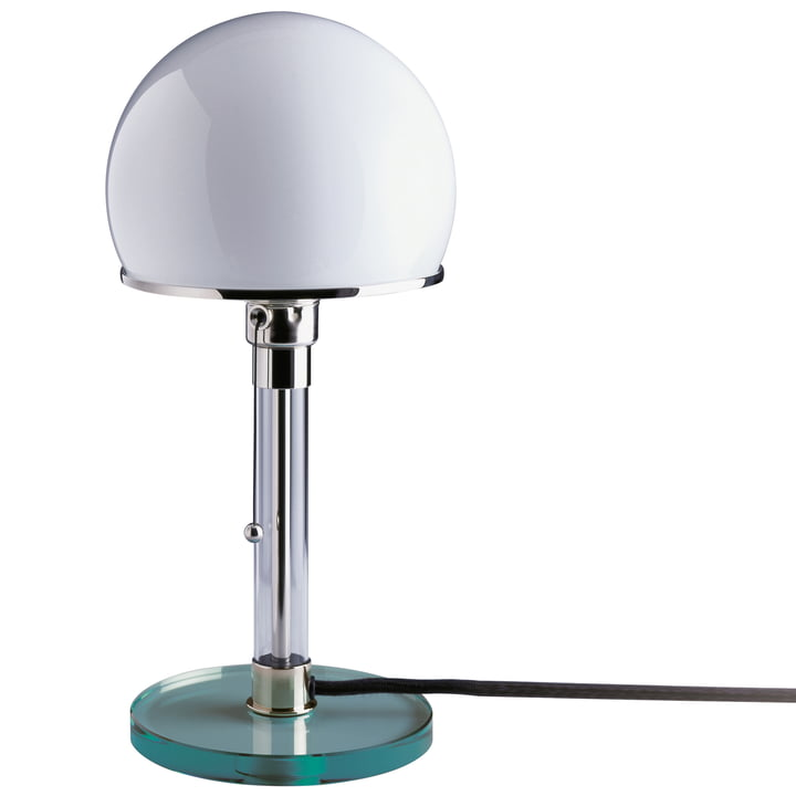 Wagenfeld lamp WG24 with transparent glass base