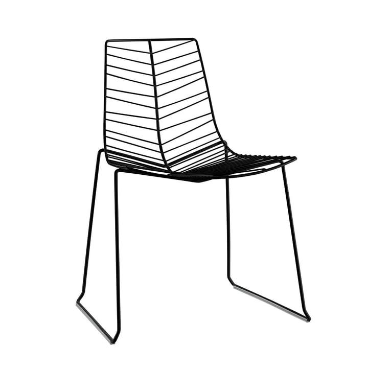 Leaf chair (stackable), black