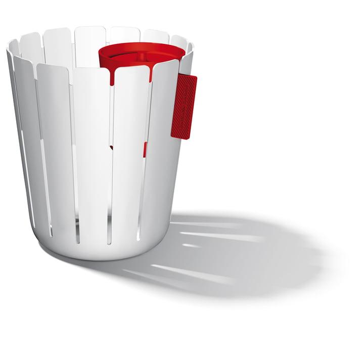 SL17 Basketbin - white / red
