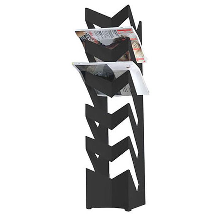 "newspaper holder ""news"" floor, black"
