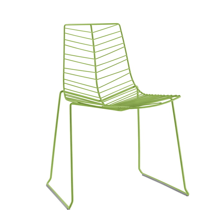 Leaf chair (stackable), green