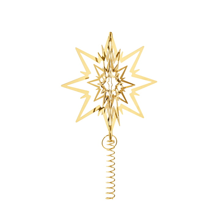 Georg Jensen Christmas Tree Top Star gold-plated