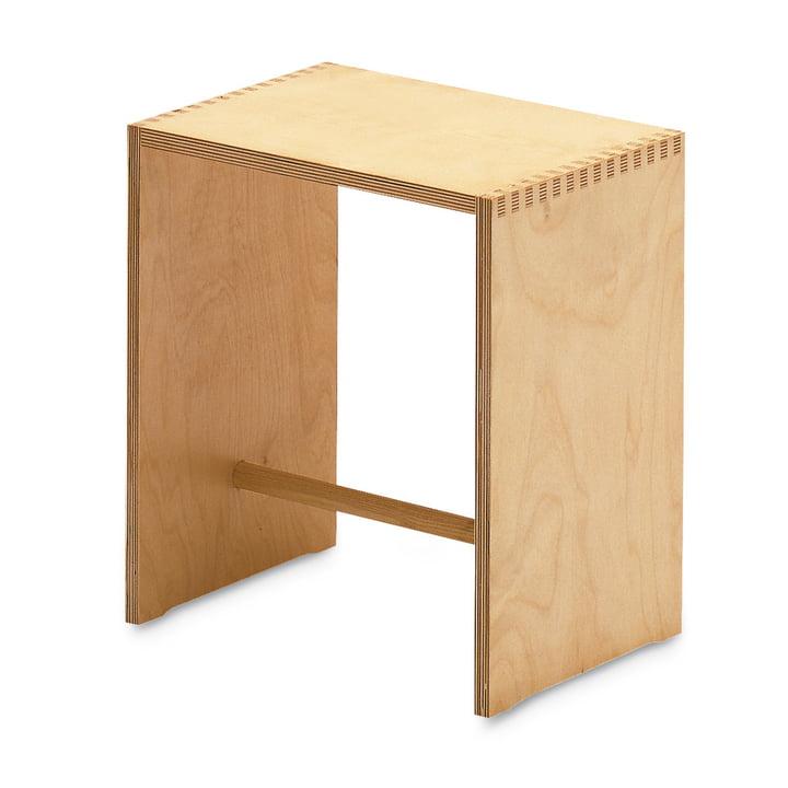 Sgabillo stool, natural birch