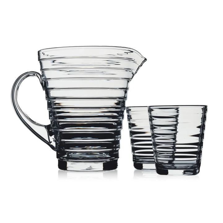 Iittala Aino Aalto glass pitcher with glasses