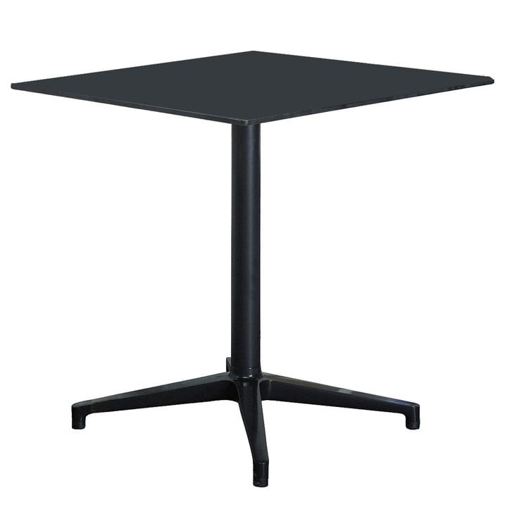 Vitra Bistro Table - indoor, rectangular, 79.6 x 64cm, black