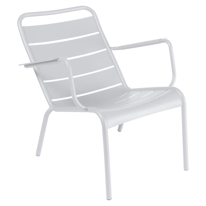 Luxembourg low armchair by Fermob in cotton white
