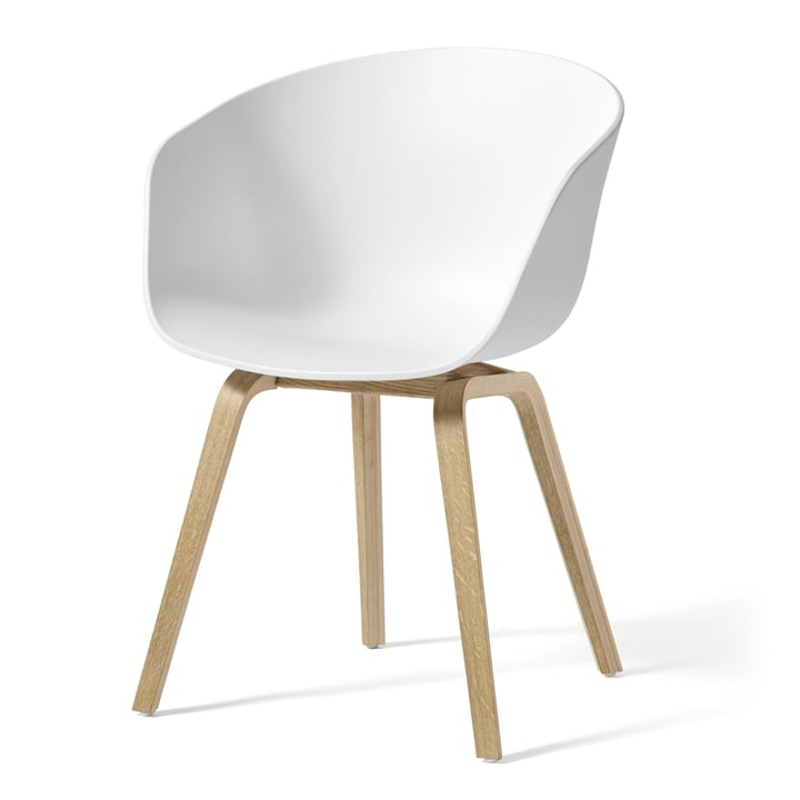 About A Chair AAC 22 by Hay in soaped oak / white