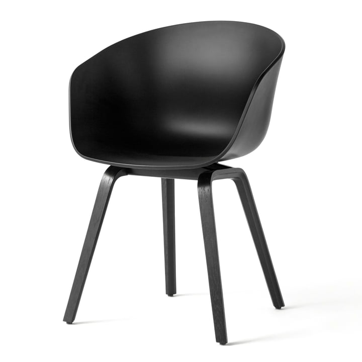 About A Chair AAC 22 by Hay in black stained oak / black