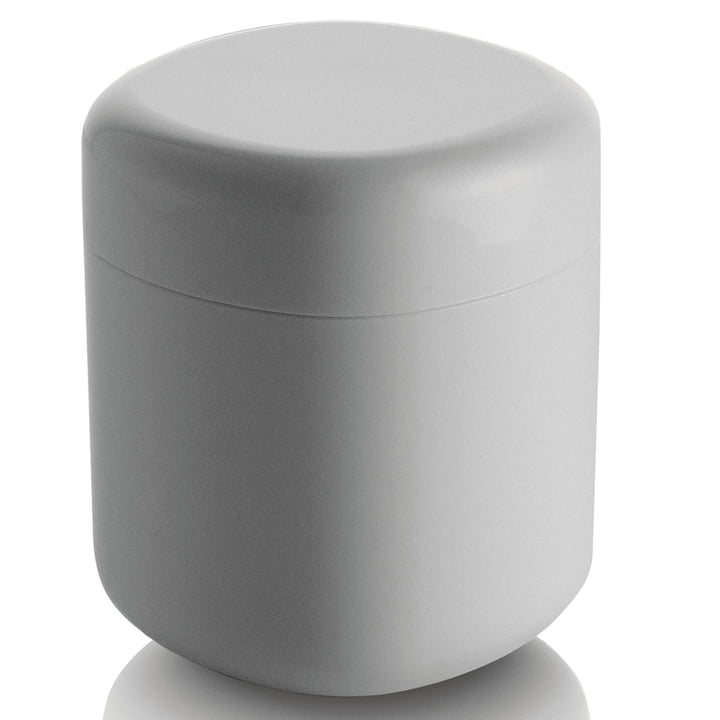 Birillo Cotton swab container PL09, white