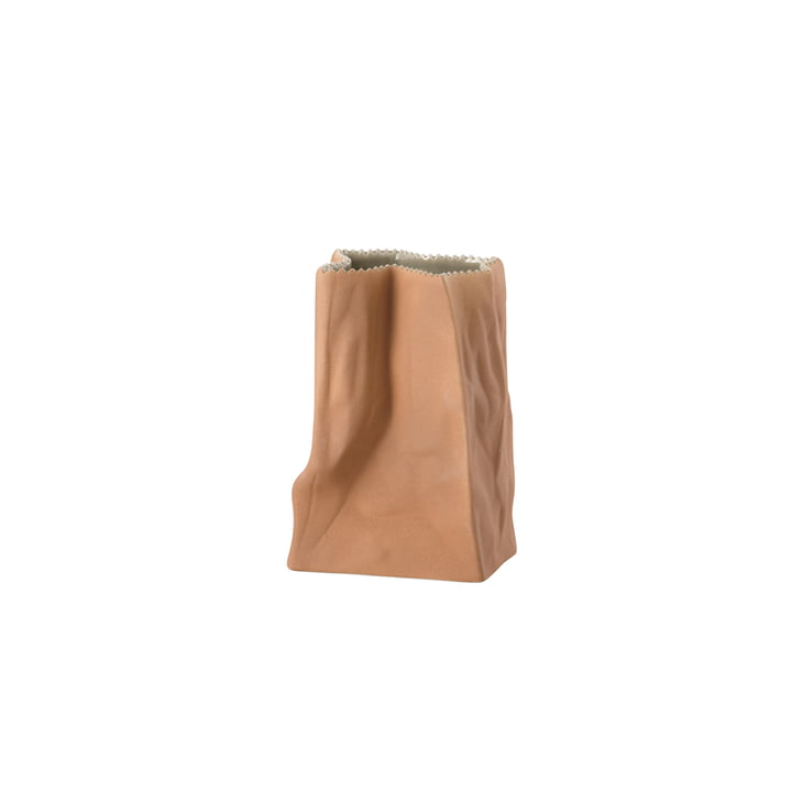Rosenthal - paper bag vase, 14 cm, light brown