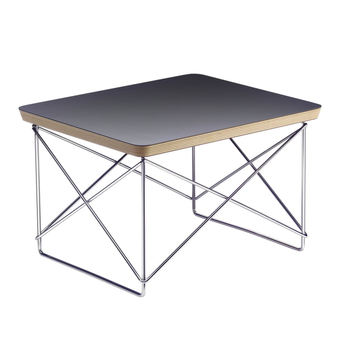 Eames Occasional Table LTR from Vitra in HPL black / chrome