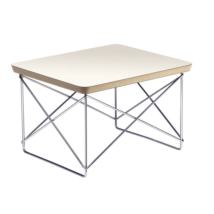 Eames Occasional Table LTR from Vitra in HPL White / Chrome