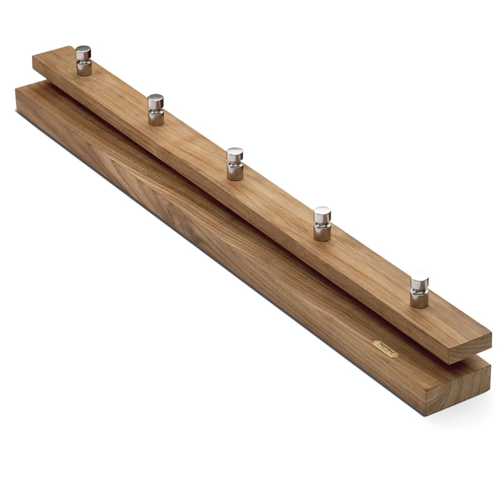 The Skagerak Cutter Coat rail in teak, small