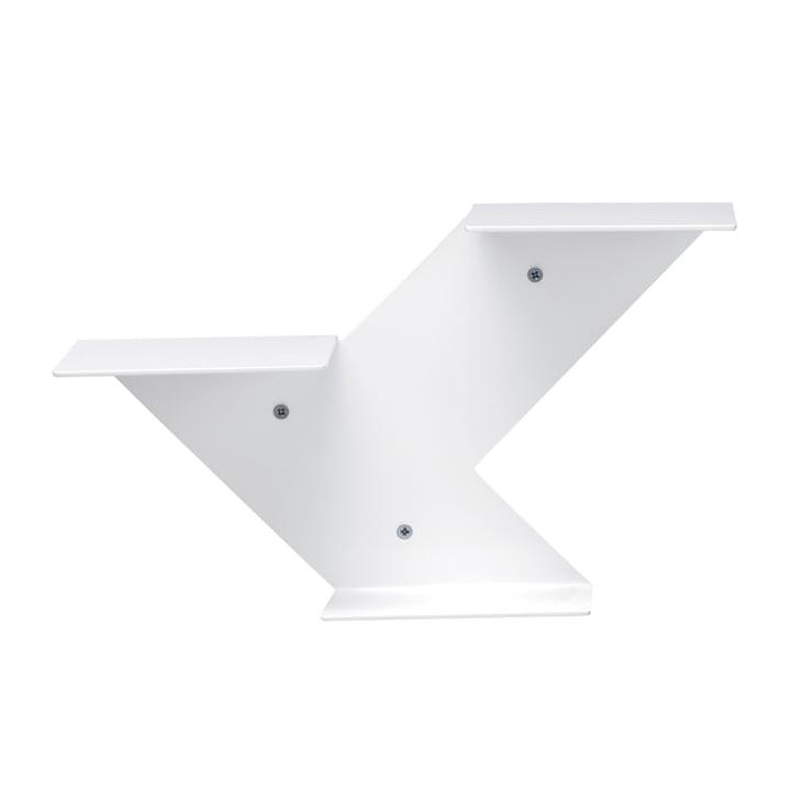 Fin shelving module, white