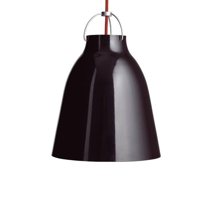 Caravaggio P2 pendant lamp by Fritz Hansen in glossy black