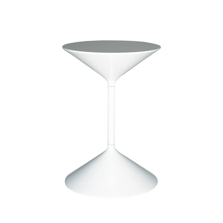 Tempo side table H 36 cm from Zanotta in white