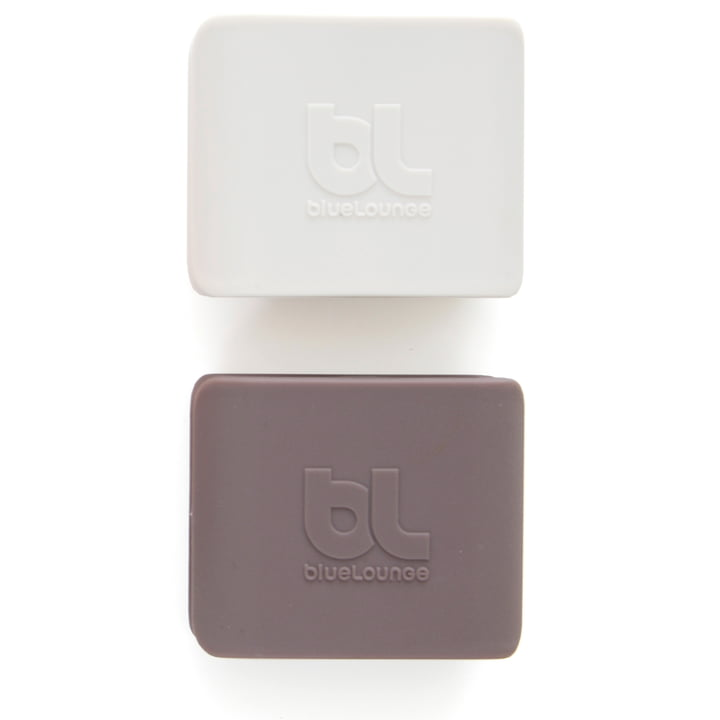 Bluelounge - CableClip, large: light grey and dark grey