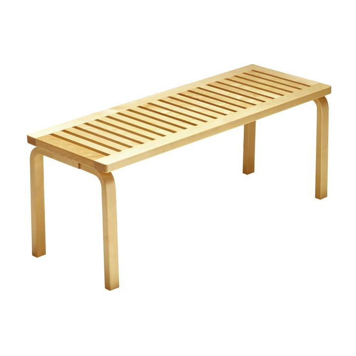 Bench 153A by Artek in birch clear lacquered