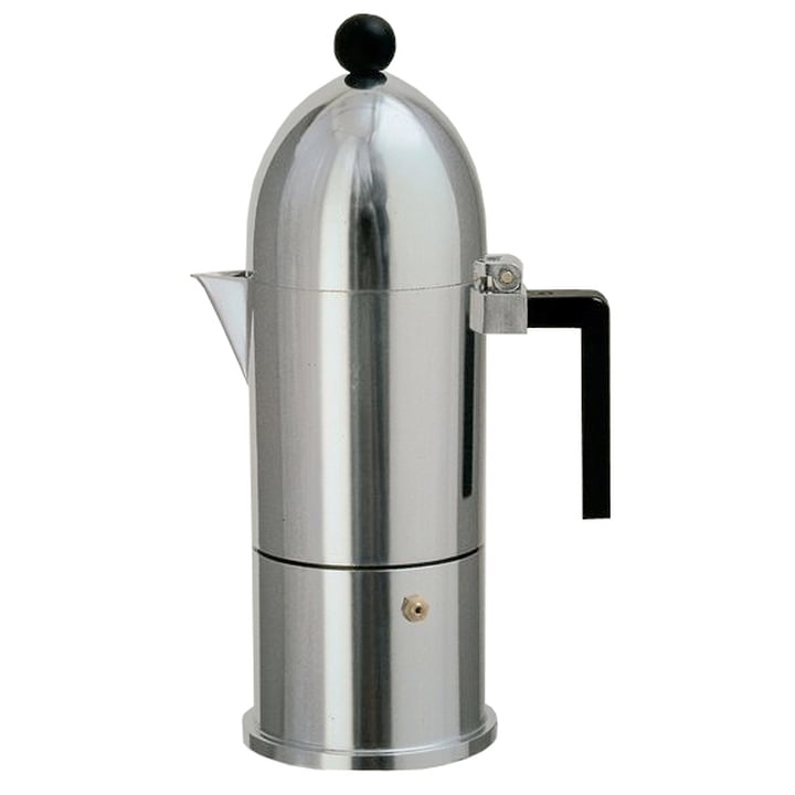 A di Alessi - La Cupola Espresso Machine 9095, 30 cl, black