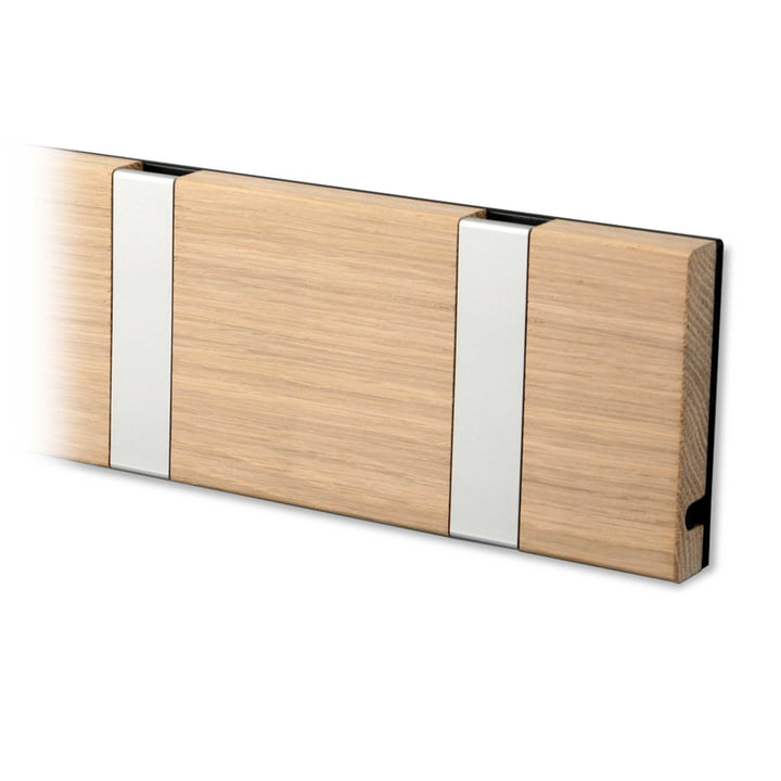 Knax coat rack by LoCa in oak / grey