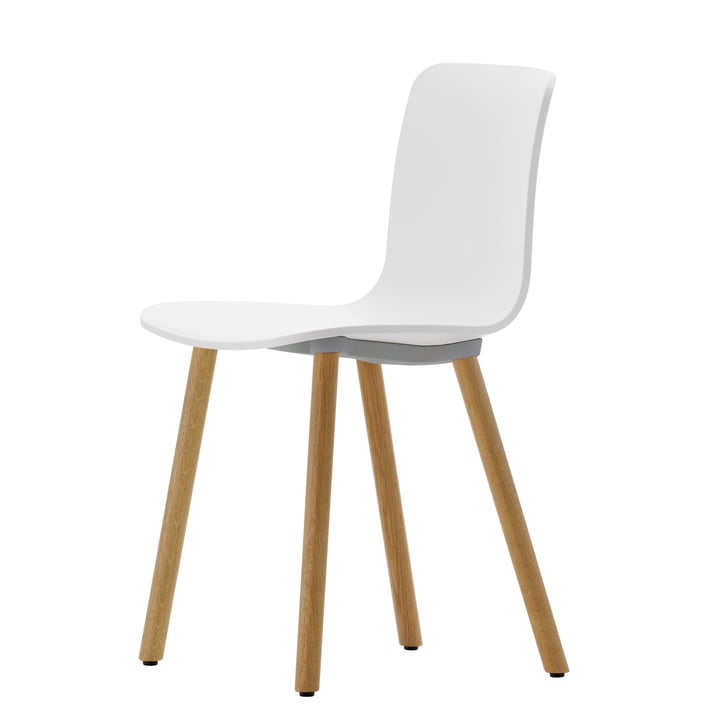 Hal Wood Chair by Vitra with light oak and white seat shell