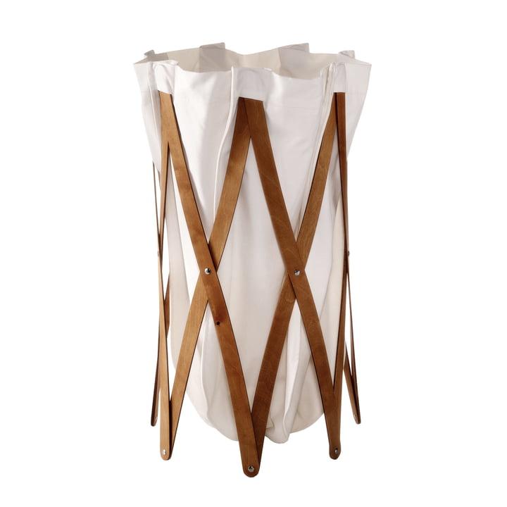 Marie Pi Laundry basket from Klein & More in walnut / beige