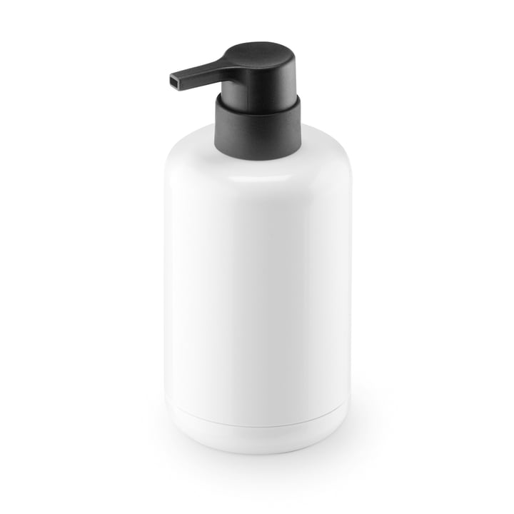 Lunar soap dispenser by Authentics in white / black