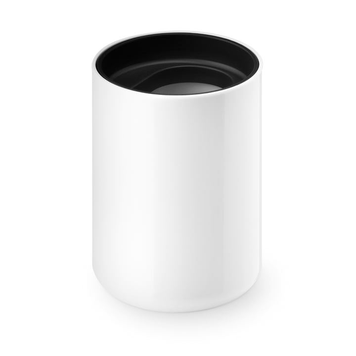 Lunar toothbrush cup from Depot4Design in white / black