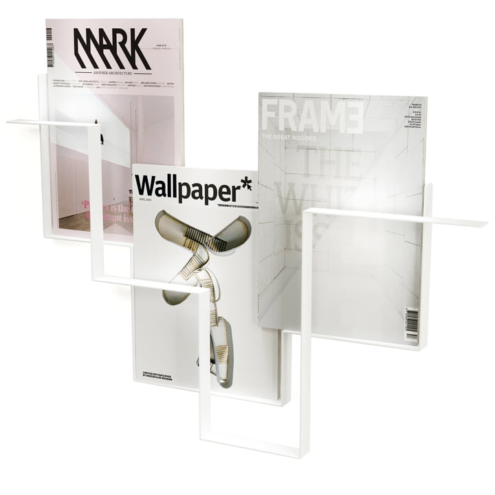 Frederik Roijé - Guidelines magazine holder in white