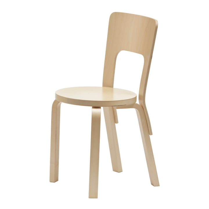 Chair 66 by Artek made of birch veneer