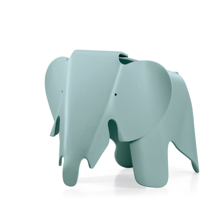 Eames Elephant by Vitra in ice grey