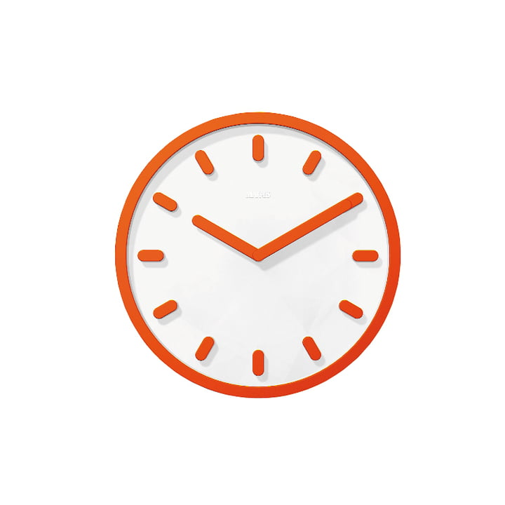 Tempo wall clock by Magis in orange