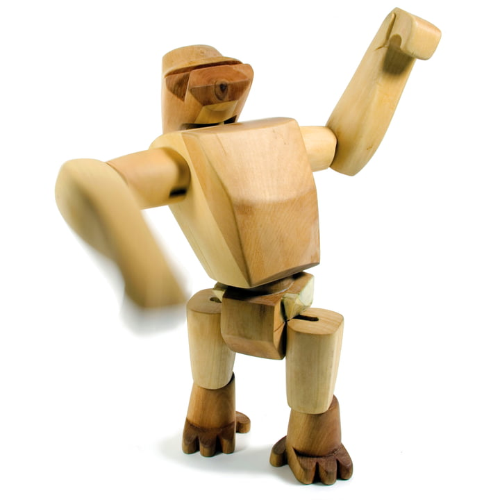 Hanno the gorilla - Wooden Creatures from Areaware made of beech wood