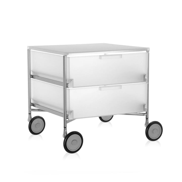 Kartell - Mobil Chest of Drawers - with wheels, 2 drawers, ice-colour