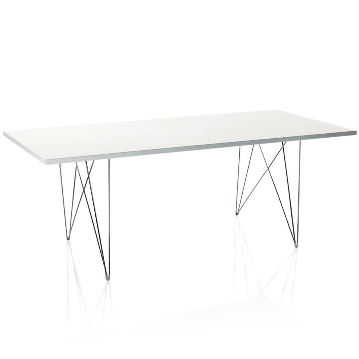 Magis - Tavolo XZ3, rectangular, white / chromed