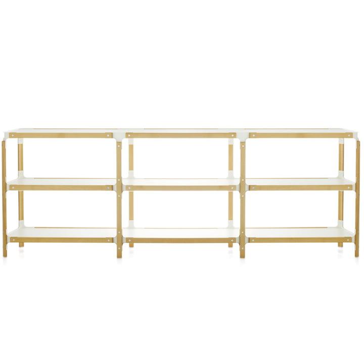 Magis - Steelwood Shelf - 3 / 3, natural beech / white