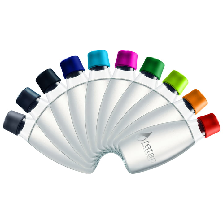 Retap - Drinking Bottle with Lid - colours