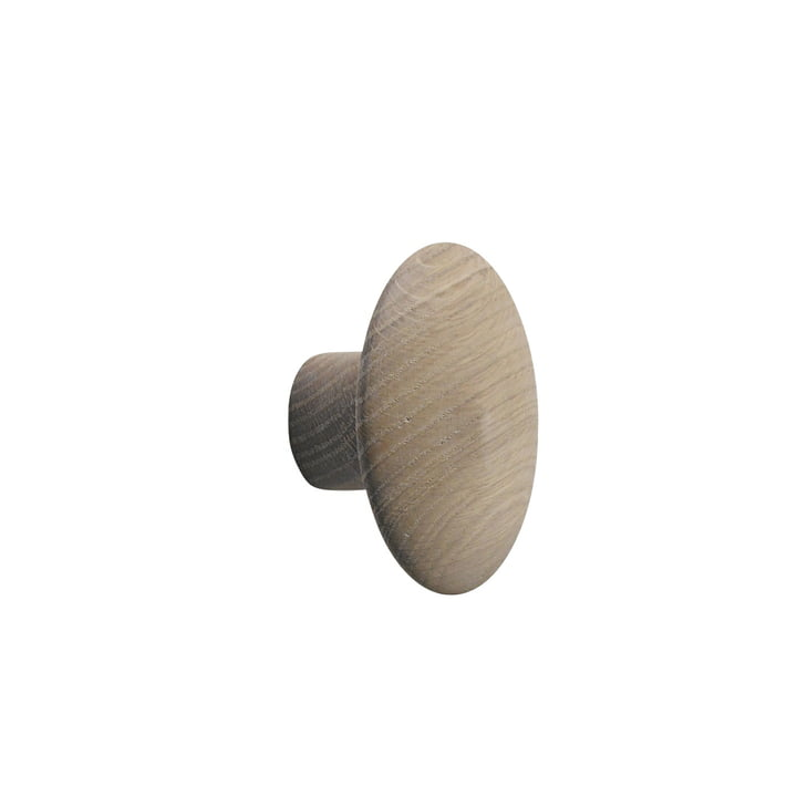 """Wall hook """"The Dots"""" single small by Muuto in oak nature"""