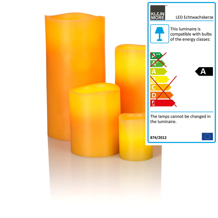 LED Real Wax Candle by Klein & More with bees wax