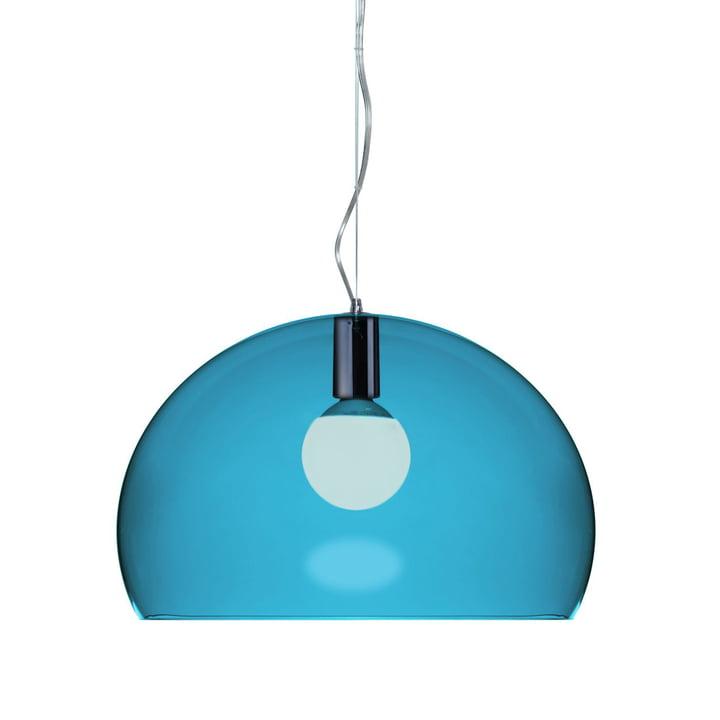 Kartell FL/Y pendant lamp, petrol blue
