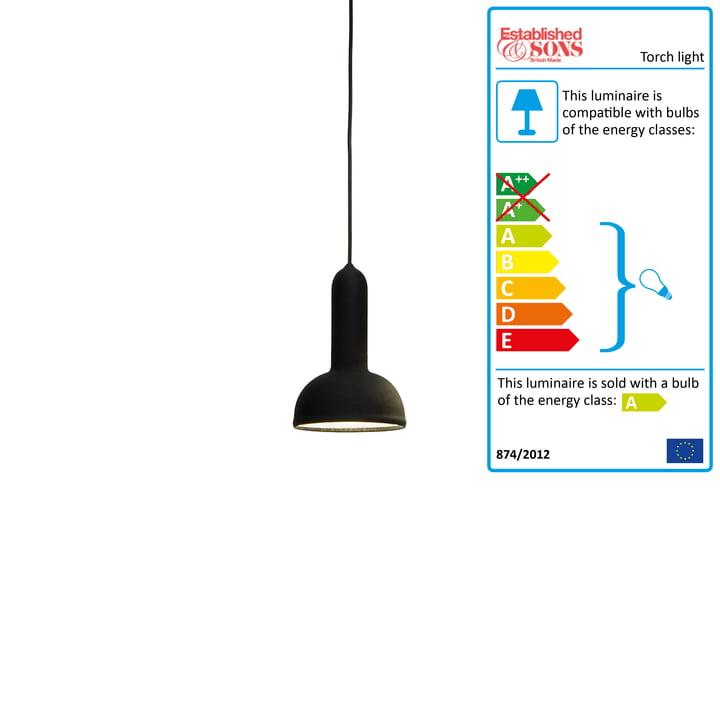 Established & Sons - Torch Light pendant lamp round black