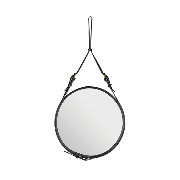 Adnet Mirror Ø 45 cm by Gubi in Black