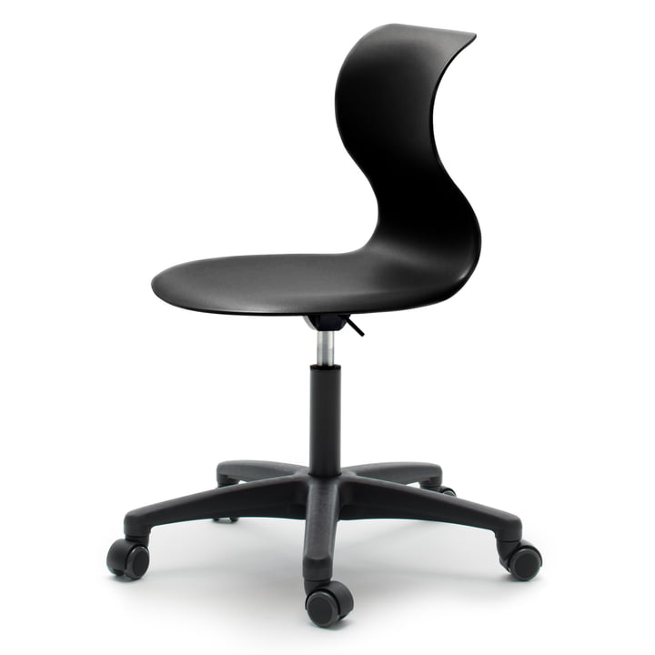 Flötotto - Pro 6 swivel chair, black, soft wheels