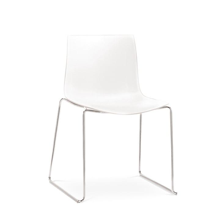 Arper - Catifa 46 chair, sled base, polypropylene, white