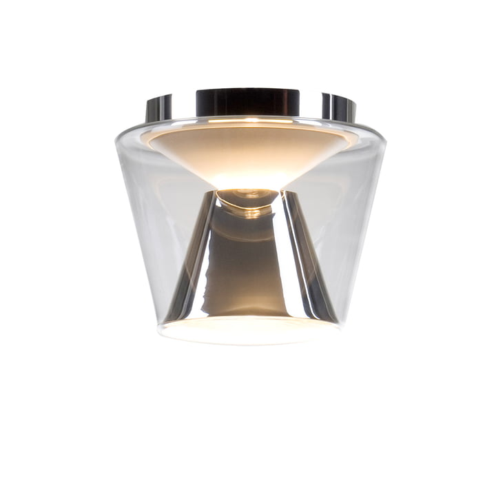 Annex Ceiling Lamp small glass shade: clear, reflector: chrome